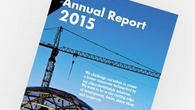 Pictured is the cover of the 2015 Annual Report. Photo/illustration: Erik Mårtensson