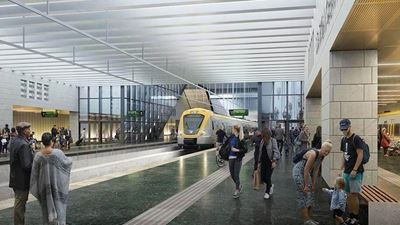 Illustration of the new Centralen station, part of the West Link in Gothenburg. Photo/illustration: Metro Arkitekter
