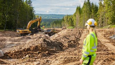 Picture of the work site Road 26/47, Jönköping, Sweden. Photo/illustration: Joakim Kröger
