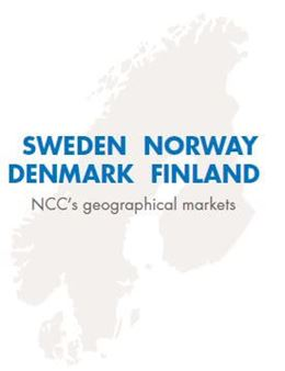 NCC's geographical markets: Sweden, Norway, Denmark and Finland. Photo/illustration: NCC